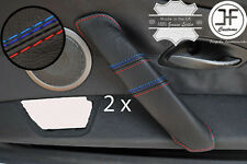 M STITCHING 2X REAL LEATHER DOOR HANDLE COVERS FITS BMW Z4 E85 2003-2009