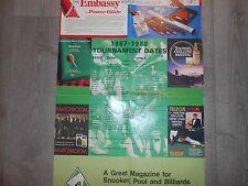 EMBASSY FOGLIO DI CALENDARIO MONDIALE di Snooker 1987-1988