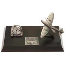 Spitfire Pewter Desk Model With Clock