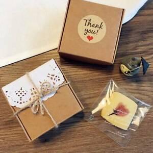 12PCS Kraft Paper'THANK YOU'Love Self-adhesive Seal Gift Label Sealing Sticker Z