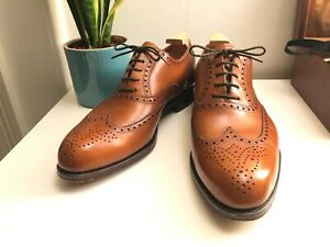 UK10 US11 CARMINA WINGTIP OXFORDS LEATHER SOLE FOREST LAST