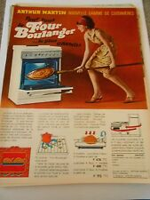 PUB Arthur Martin Le Four Boulanger le plus grand Advert Print 1966
