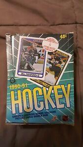 1990-91 O-PEE-CHEE HOCKEY WAX BOX 36 PACKS TOPPS RUSSIAN INSERT CARDS