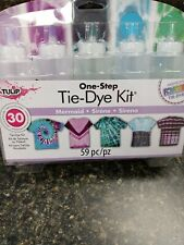 Tie-Dye Kit One Step Mermaid, Up to 30 projects, Tie Dye Shirts,Bags,etc... NEW
