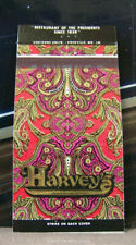 Vintage Matchbook Cover F6 Washington DC Harvey's President's Since 1858 Fish