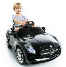 12V Mercedes Mp3 Rc Remote Control Electric Battery Power Ride On Toy Car Black