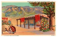 Native  Postcard, Southwest Postcard, Drying Chili Pepers  Postcard ,1P