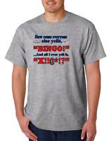 USA Made Bayside T-shirt How Come Everyone Else Yells Bingo I Cuss