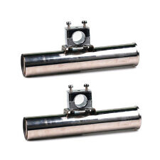 """2PCS Stainless Steel Boat Clamp On Fishing Rod 1"""" to 1-1/4"""" Rail Mounted Holder"""