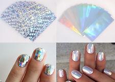 10 Sheets Diamond Pure Glitter Holographic Nail Foil Sticker FAST SHIPPING USA
