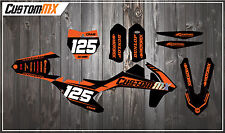 KTM SXF SX XC EXC Graphics Kit - Fluorescent Orange 85 125 150 250 300