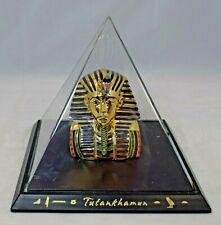 The Bradford Exchange - Treasures of King Tut - Mask of Tutankhamun Pyramid Bust