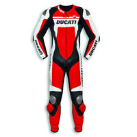 Motorcycle Ducati Corse C4 Cowhide Leather Racing Suit CE Armour Motorbike Moto