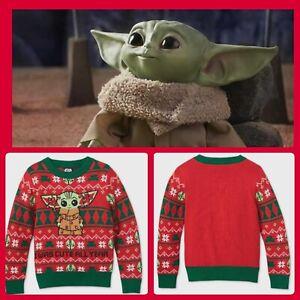 Kids Infant 18 Mo Baby Yoda The Child Mandalorian Christmas Holiday Knit Sweater