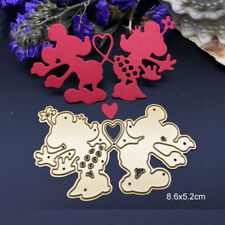 Love Cartoon Mouse Metal Cutting Dies Stencil Scrapbooking Card Embossing Craft