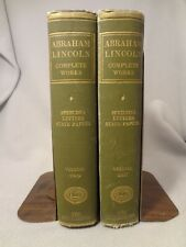 Abraham Lincoln Complete Works Speeches Letters State Papers Two Volumes