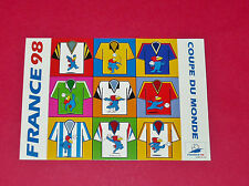 FOOTBALL CPA CARTE POSTALE COUPE DU MONDE FRANCE 98 FOOTIX N°15 MAILLOTS