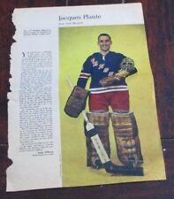 Jacques Plante No. 4 issue Weekend Magazine Photos 1963 -1964 Toronto Star