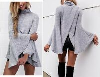 Maglia Autunno Manica Lunga Larga Donna Woman Long Sleeve T-Shirt Top 561028 P
