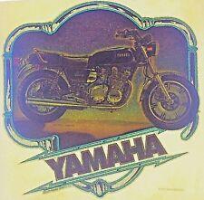 Original VIntage Yamaha Iron On Transfer Motorcycle Glitter