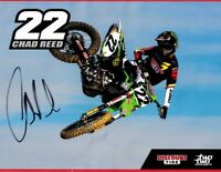 Chad Reed autographed signed Two Two Motorsports motocross supercross photo card