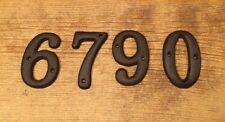 "Soild Cast Iron House Address Numbers 3 1/2"" tall (Set of Four) 0184J-13021-4S"