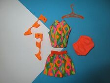 Vintage Barbie Mod Complete Outfit WILD 'N WONDERFUL #1856 Mint Free Shipping US