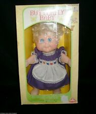 VINTAGE 1983 EUGENE BUTTERFLY BABY GIRL BLONDE DOLL PURPLE DRESS IN PACKAGE TOY