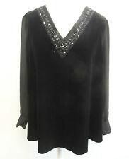 Together Velour Top Black UK Size 18 RRP £75 box73 62 B