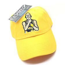 Yellow Reggie Miller Knicks Choke Taunt 90s Retro Vtg Dad Cap Hat