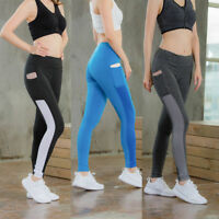 Women's Athletic Sports Pants with Pocket Yoga Gym Running Jogger Long Tights