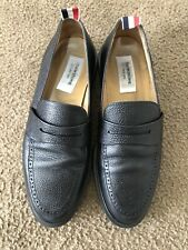 Thom Browne Leather Penny Loafers Black Lightweight US Size 10 Women's