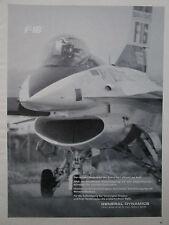 5/1976 PUB GENERAL DYNAMICS F-16 FIGHTING FALCON US AIR FORCE ORIGINAL GERMAN AD