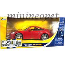 JADA 91851 PORSCHE 911 997 TURBO 1/24 DIECST MODEL CAR RED