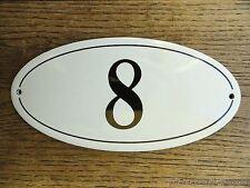 Stile ANTICO SMALTO porta numero 8 Numero Civico Porta Placca Segno