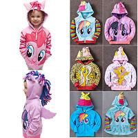0-8Y Kids Girls Hoodies Wing Sweater Sweatshirt Cartoon Coat Zip Jacket Outwear