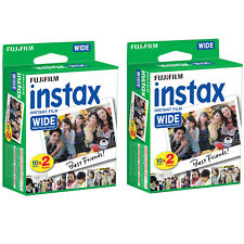 40 Prints Fuji Instant Wide Instax Film for Fujifilm 200, 210, 300 Camera 04/19