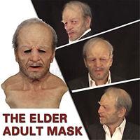 The Elder Old Man Headgear F Masquerade Halloween Realistic Headgear Horror.