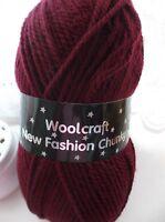 Burgundy New Fashion Chunky Wool  5 x 100gm balls  [ 500g  ]