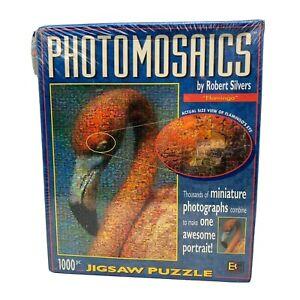 Photomosaics Flamingo 1000 Piece Jigsaw Puzzle Robert Silvers New w/ Damaged Box