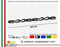 2 ADESIVI ESSEESSE ESSESSE ABARTH FIAT 500 595 695 STICKER TUNING ELABORAZIONE