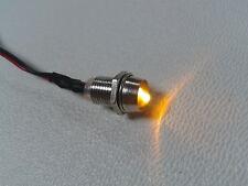 3 Stück LED gelb mit Fassung 5mm anschlußfertig für 12V indirekte Beleuchtung
