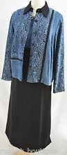 Coldwater Creek 2pc set dress suit Dressy blazer jacket light coat block 8 NEW