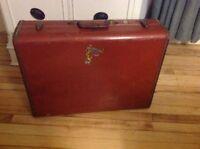 "Vintage Samsonite  Hard Sided Suitcase ~ 24"" X 18"" Brown Faux Leather Luggage"