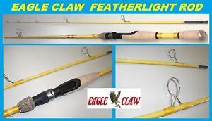 EAGLE CLAW Featherlight 6' Ultra Light Spinning Rod #FL204-6 FREE USA SHIP!