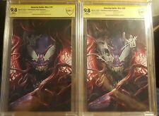 Amazing Spider-Man #29 Virgin Variant C and D CBCS 9.8 Signed Francesco Mattina