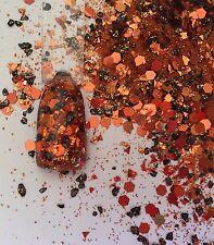 Glitter Mix Acrylic Gel Nail Art Crafts  BAKED PUMPKIN