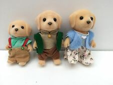 Epoch Calico Critters Sylvanian Family Yellow Labrador Dogs Figures Lot of 3
