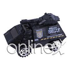 Coche Juguete Negro Policía Tanqueta SWAT  A Escala 1:64 a1803