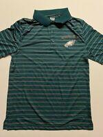 NFL Philadelphia Eagles Team Apparel Striped Polo Shirt Men's Size Medium